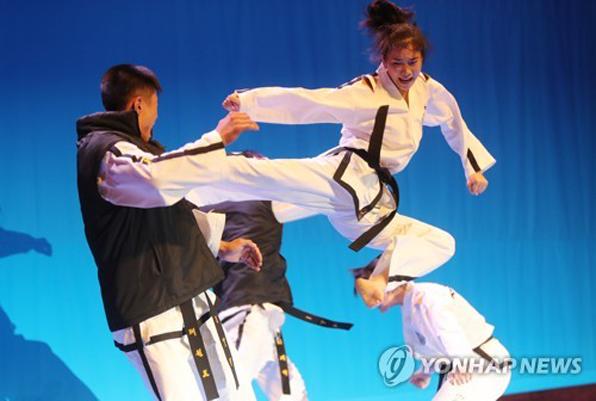 ITF 시범단은 6월 24일 개막식 시범공연에 이어 26일 전북도청에서 태권도 시범공연을 했다.