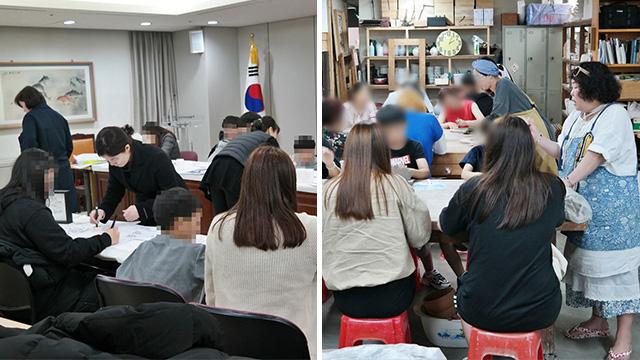범죄피해자지원센터 심리치료 프로그램에 참여한 내담자들