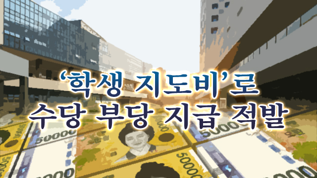 """""""카톡 1건에 수당 13만 원""""…국립대 '학생 지도비' 부당 지급 적발"""