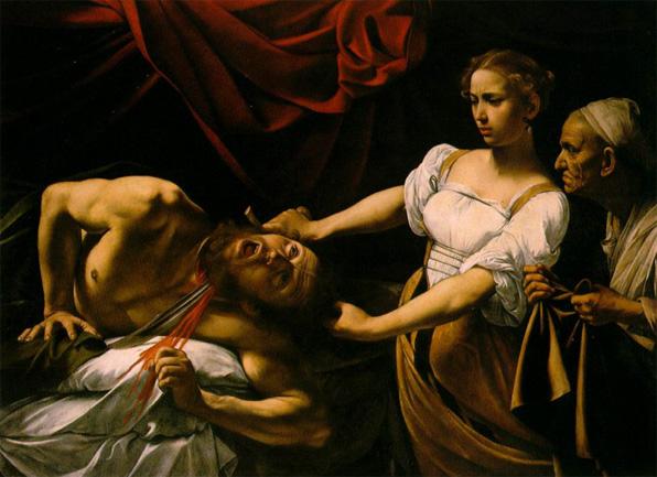 카라바조 作 '홀로페르네스의 목을 자르는 유디트'(로마 국립고미술박물관 소장)