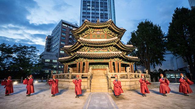 26일 저녁 서울 중구 환구단에서 국태민안 기원제가 열렸다.