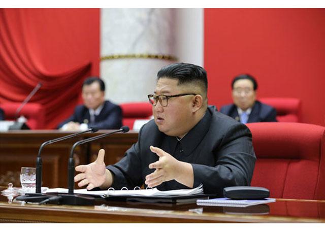 지난해 12월 28일~31일 열린 조선노동당 중앙위원회 제7기 5차 전원회의 모습
