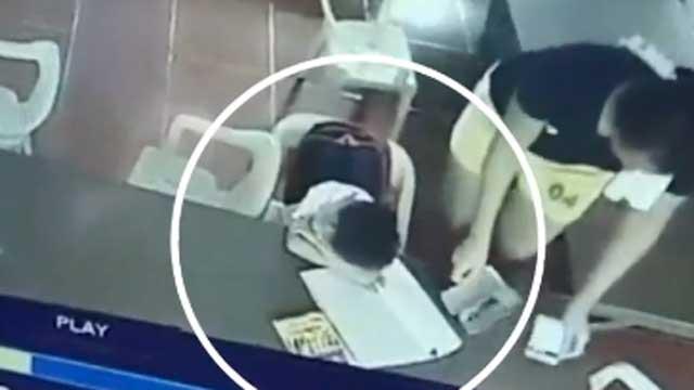 [영상] 책가방 아니었네?…비몽사몽 아이의 실수