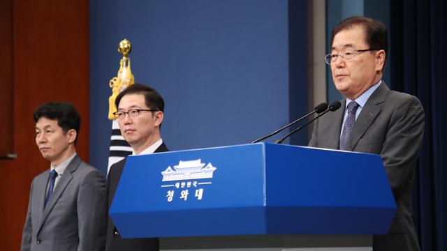 """[영상] 특사단 """"김정은, 비핵화 의지 의심하는 국제사회 답답하다"""""""
