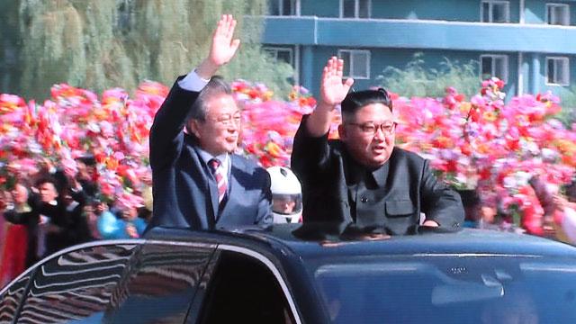 [영상] 남북 정상 사상 첫 '동승 카퍼레이드'