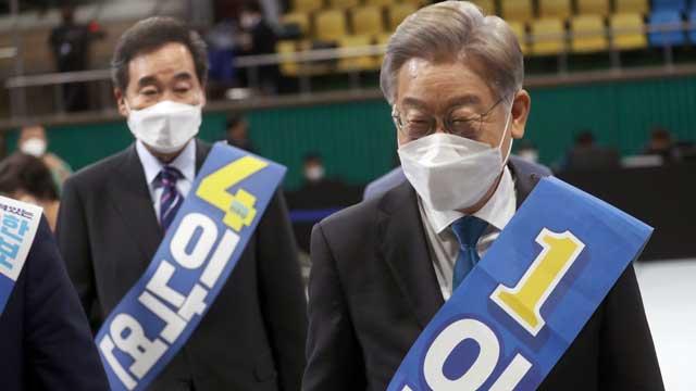 민주당 전북 경선서 54.55%로 이재명 1위…과반 유지