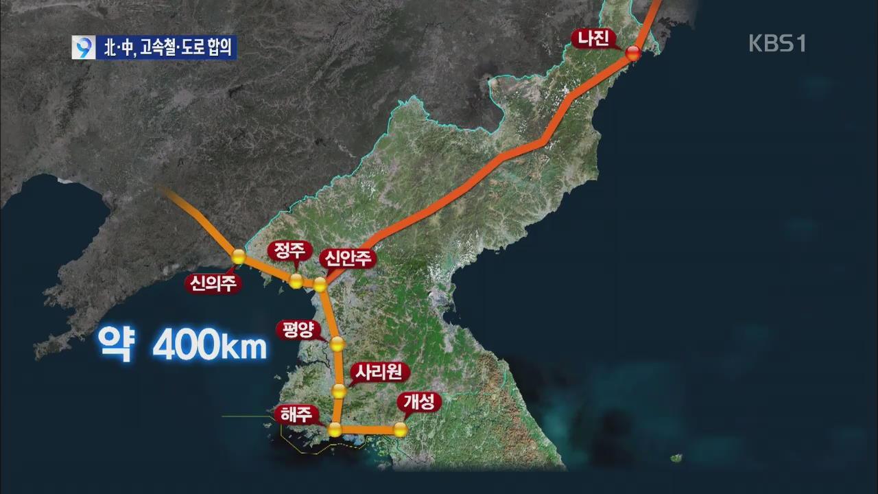 [단독] 북중, 개성~신의주 고속철·도로 건설 합의