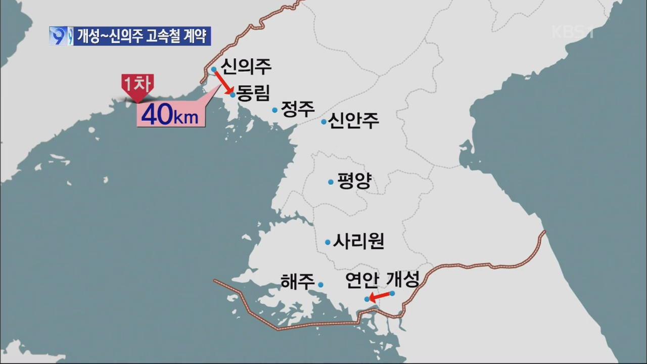 [단독] 개성~신의주 고속철 북중 계약 체결