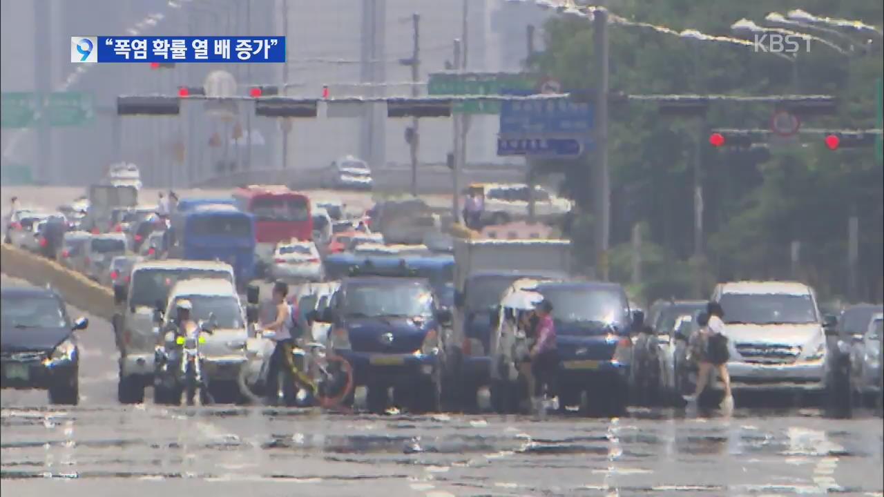 지구 온난화로 한국 폭염 가능성 10배 증가