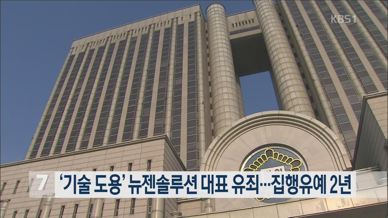 '기술 도용' 뉴젠솔루션 대표 유죄…집행유예 2년