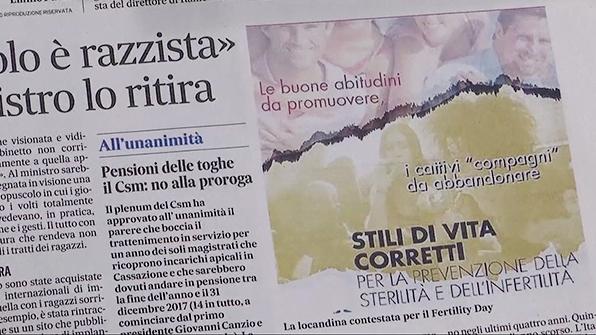 이탈리아 '임신의 날' 캠페인 인종 차별 논란
