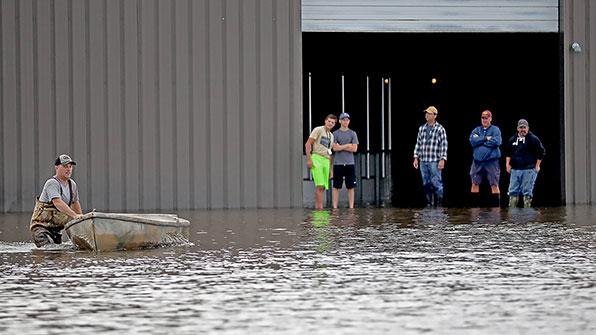 미 중북부 최대 360mm 폭우…최소 1명 사망
