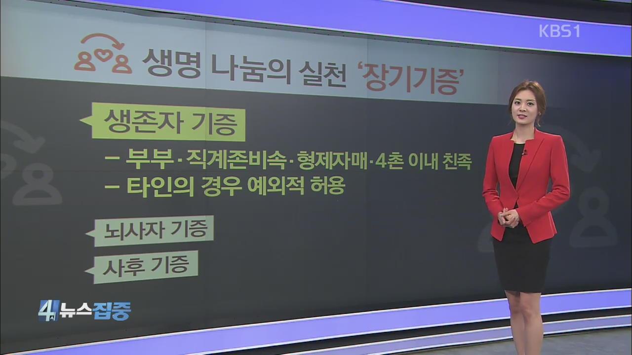 생명 나눔의 실천 '장기기증'