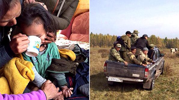 시베리아 야생서 실종 3살 아이, 3일 만 극적 구조