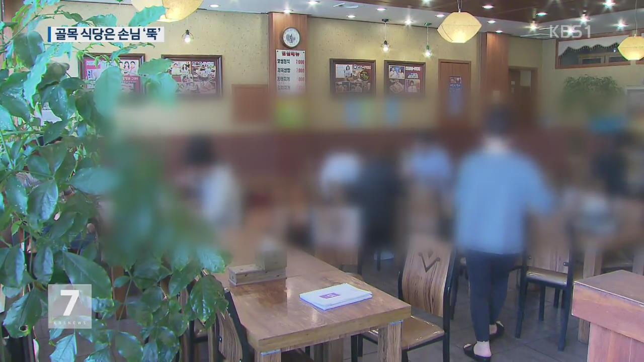 """대기업 식당 수 ↑…골목 식당 """"점심 영업 접었다"""""""