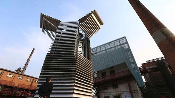 中베이징, 세계 최대 공기정화탑 설치