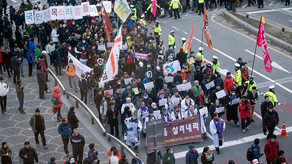 '지난해 12월 2차 민중총궐기' 금지 취소소송 2심 각하