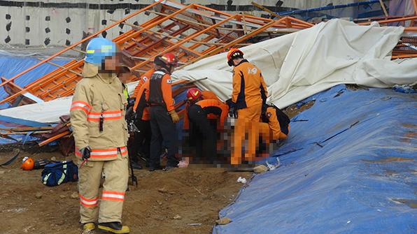 경기 광주 아파트 공사장서 근로자 추락…2명 숨져