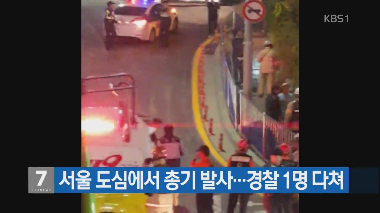서울 도심에서 총기 발사…경찰 1명 다쳐