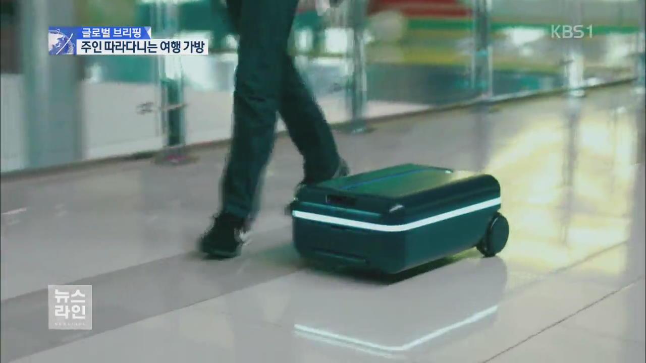 [글로벌 브리핑] '강아지처럼 졸졸'…여행 가방의 진화