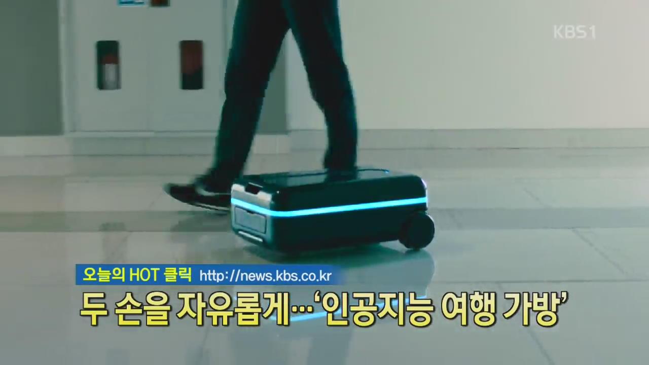 [디지털광장] 두 손을 자유롭게…'인공지능 여행 가방'