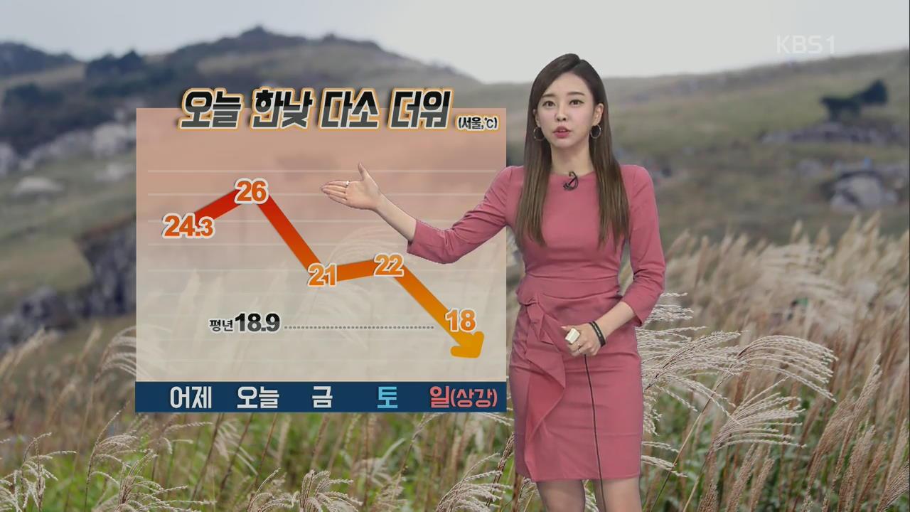 중서부 오전 미세먼지 '나쁨'…한낮 다소 더워