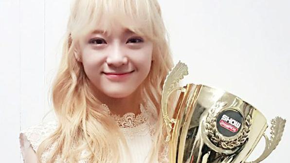 '갓세정', 음악방송 첫 1위