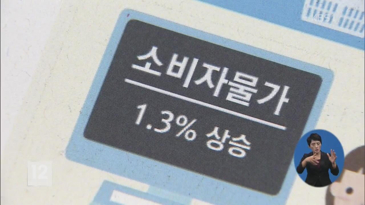 11월 소비자물가 1.3%↑…체감물가 '고공 행진'