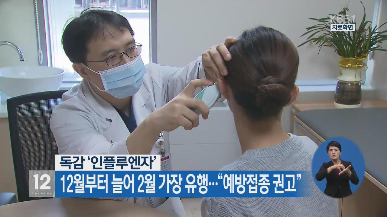 """'인플루엔자' 12월부터 늘어 2월 가장 유행…""""예방접종 권고"""""""