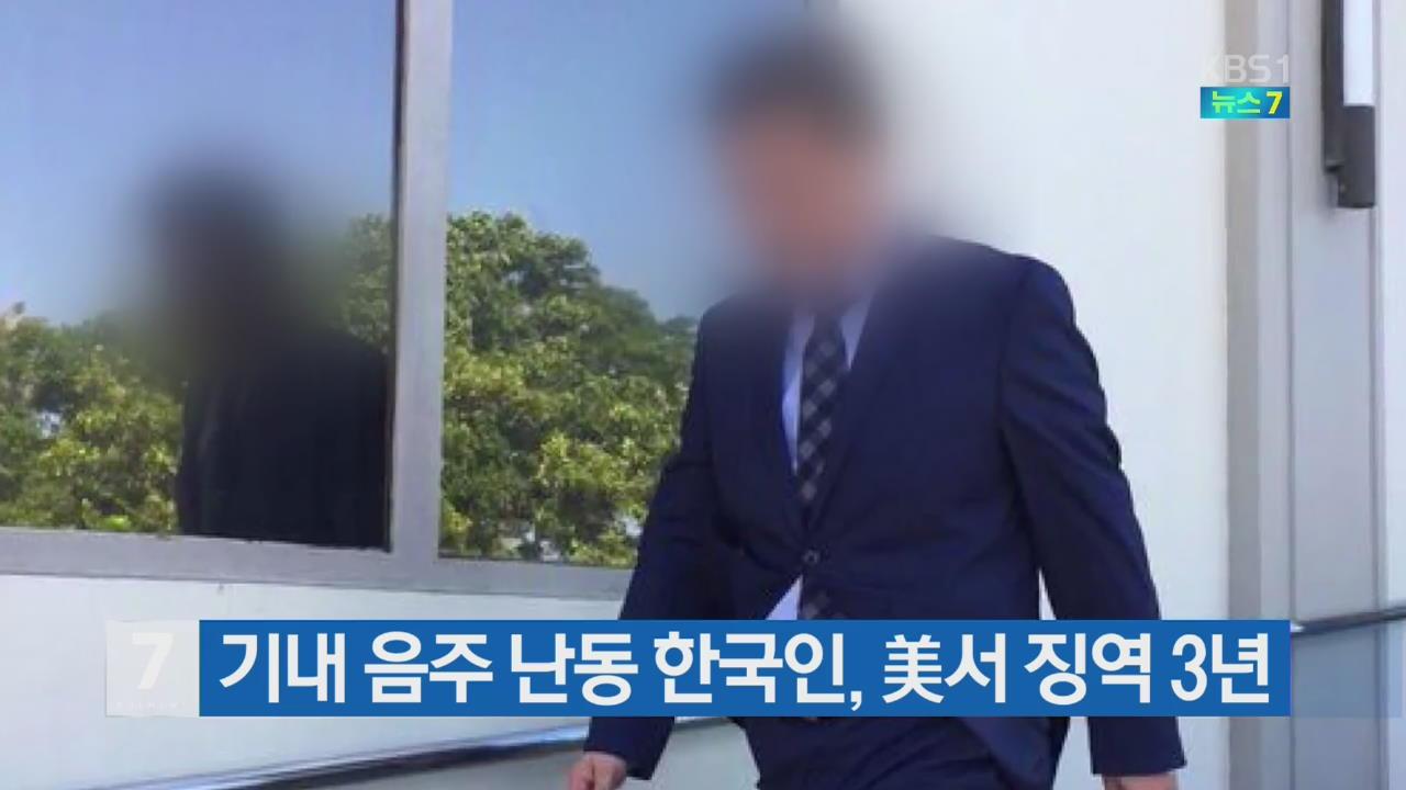 기내 음주 난동 한국인, 美서 징역 3년