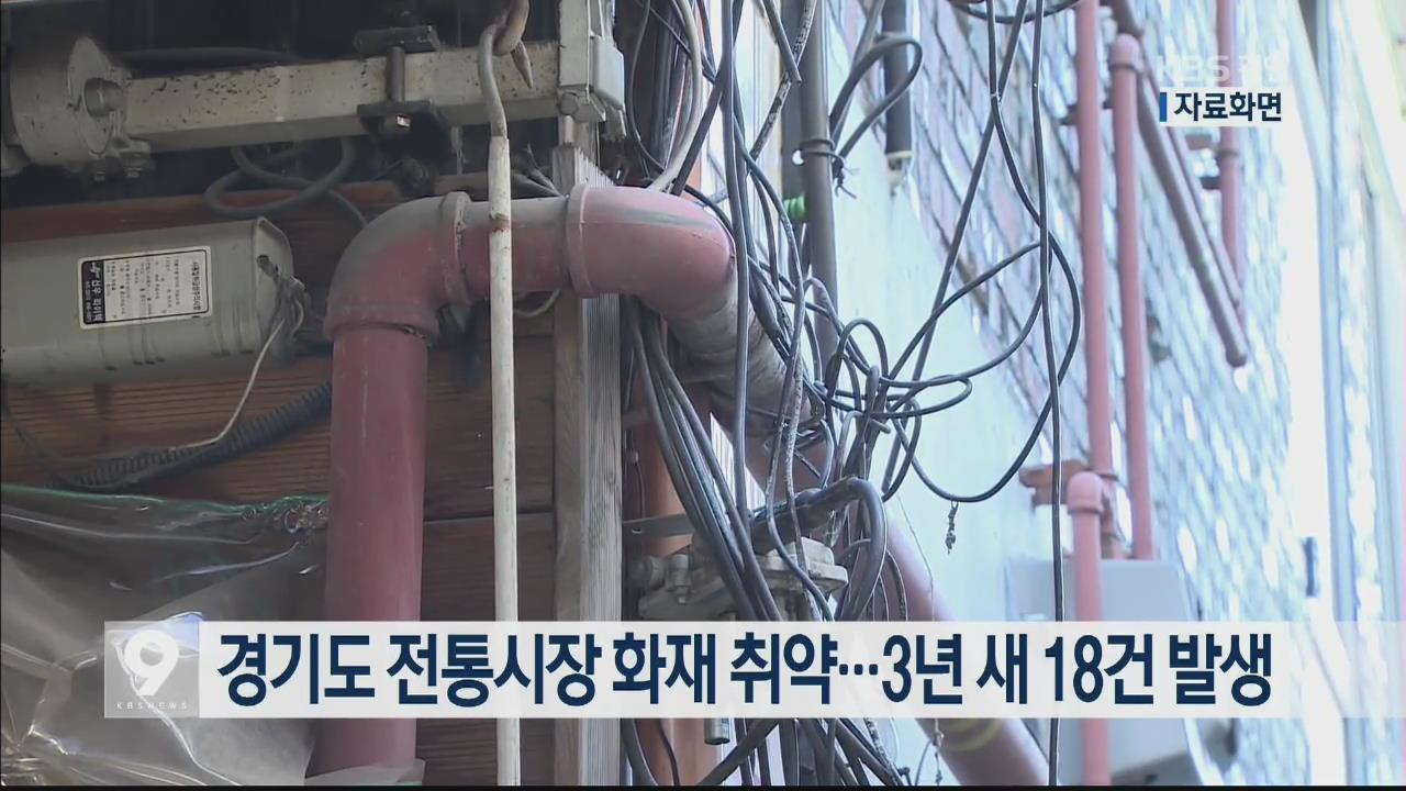 경기도 전통시장 화재 취약…3년 새 18건 발생