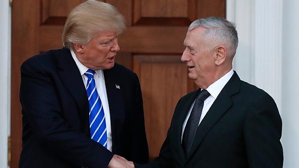 트럼프, 국방장관에 매티스 낙점…다음 주 공식 임명
