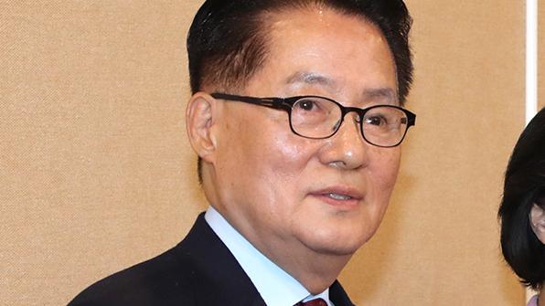 """박지원 """"야권균열 사과…새누리 동참 설득에 경주"""""""