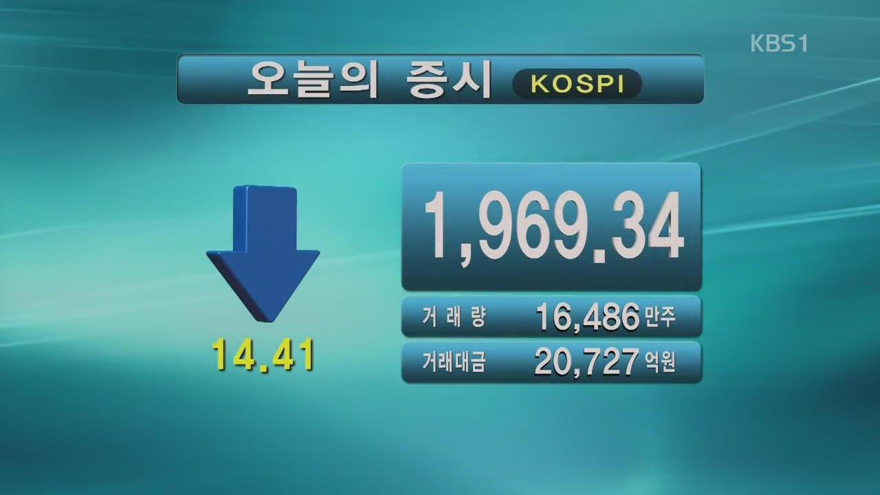 코스피 1,969.34 코스닥 588.99
