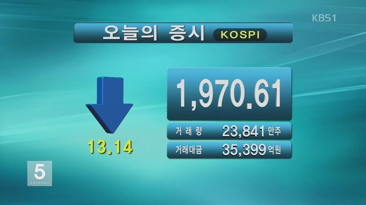코스피 1,970.61 코스닥 586.73