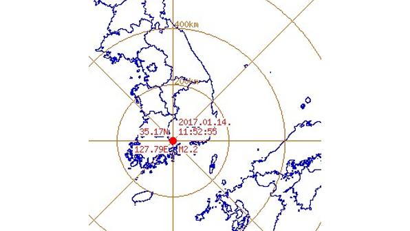 """경남 하동서 규모 2.2 지진…""""피해 없을 듯"""""""