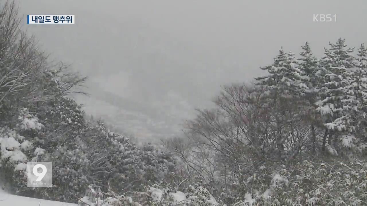 호남·울릉도엔 눈까지…내일도 맹추위