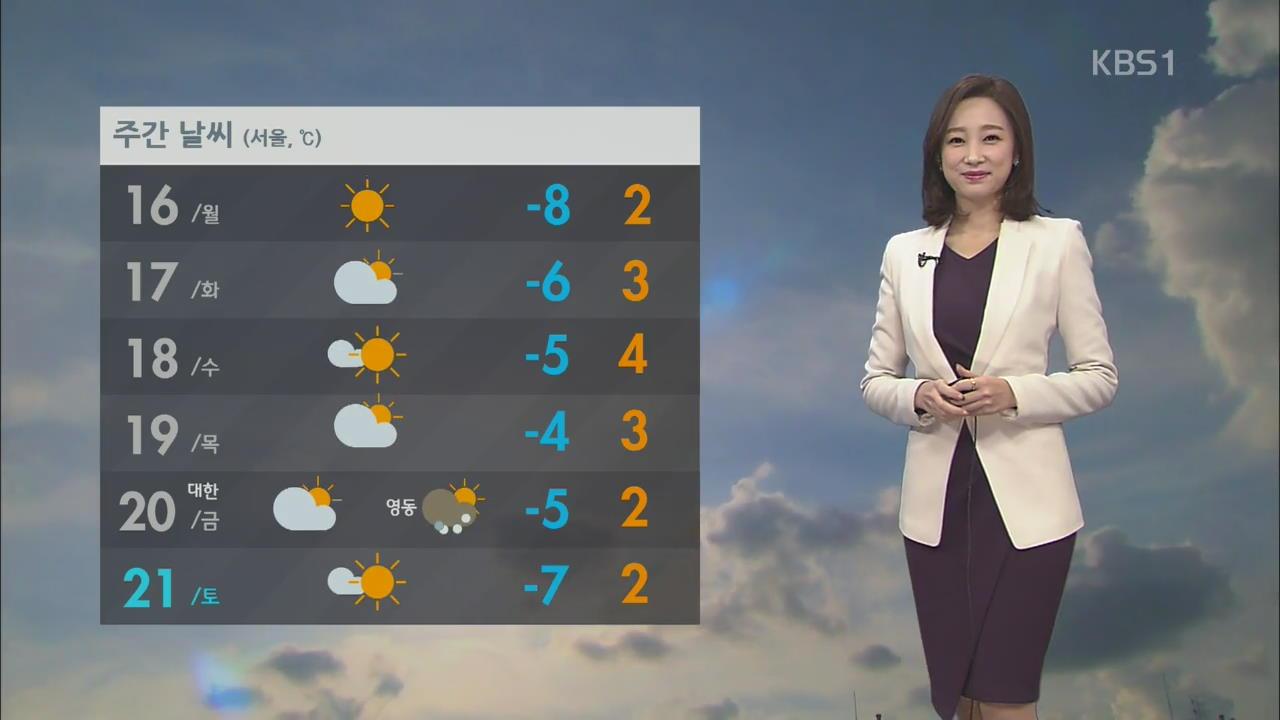 내일 전국 맑고 한파 계속…다음 주 기온 올라