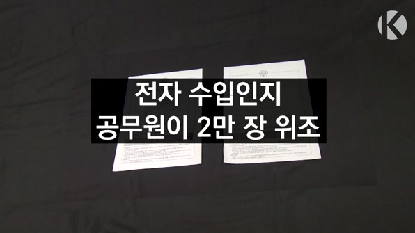 [라인뉴스] 전자 수입인지  공무원이 2만 장 위조