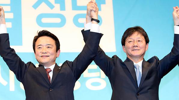 유승민·남경필, '안보·수도이전' 내세우며 충청표심 공략