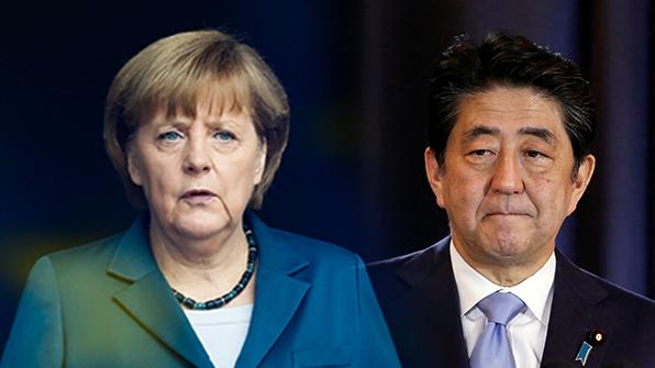 메르켈·아베, '자유무역' 또 강조…트럼프에 한목소리