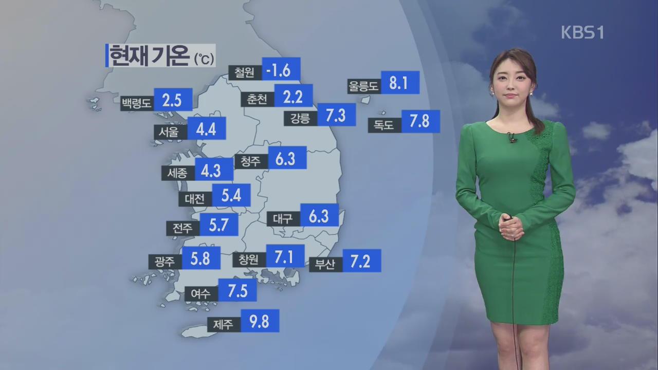 오전 미세먼지 '나쁨'… 오후부터 쌀쌀한 날씨