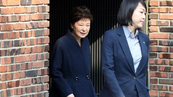 """[포토] 박근혜 """"성실히 조사에 임하겠다"""""""