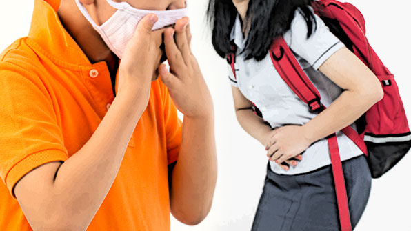 초등학생은 호흡기 질환, 중·고등학생은 위장질환 많아