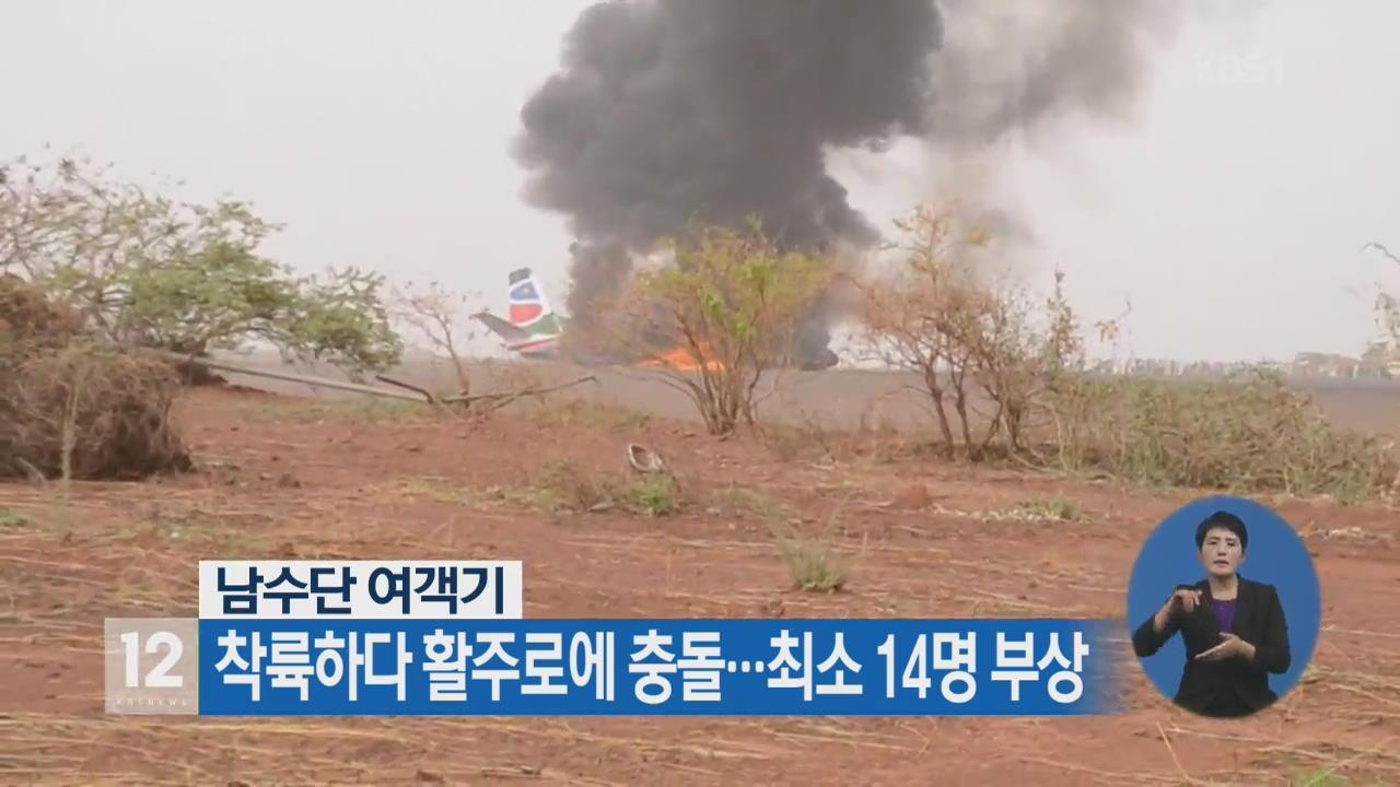 남수단 여객기 착륙하다 활주로에 충돌…최소 14명 부상
