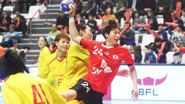 여자핸드볼, 22일 일본과 아시아선수권 결승전