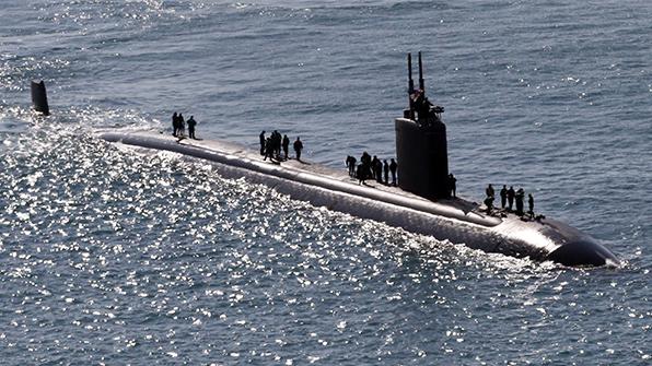 美 핵잠수함 콜럼버스함 한반도 전개