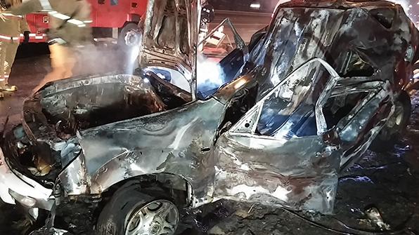 외곽순환도로서 SUV 차량 사고로 불…1명 중상