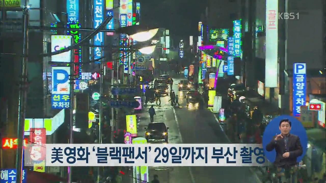 美영화 '블랙팬서' 29일까지 부산 촬영