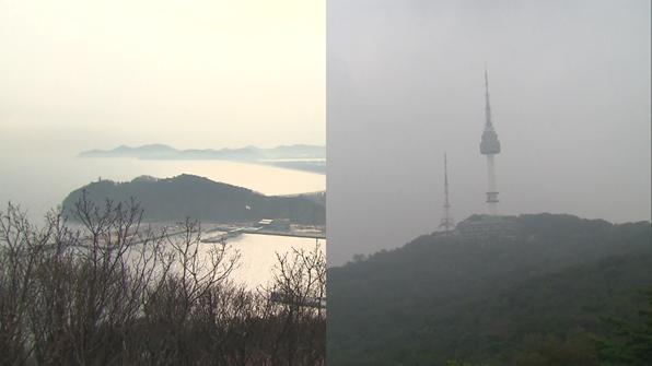 백령도와 서울의 미세먼지 농도가 같은 이유는?